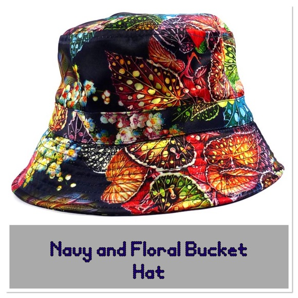 a617b1bd4a5 Navy and Floral Bucket Hat
